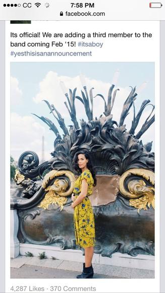 yellow dress johnnyswim Amanda sudano ramirez Yellow print dress