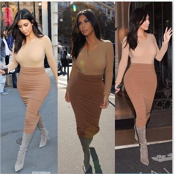 Piece dress sexy cultivate one's morality kakki
