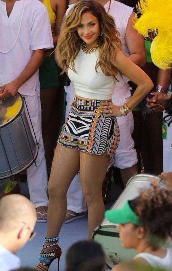 shorts necklace beautiful jennifer lopez shoes