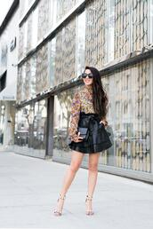 wendy's,lookbook,blogger,blouse,skirt,shoes,sunglasses,sandals,high heel sandals,ruffled top,spring outfits