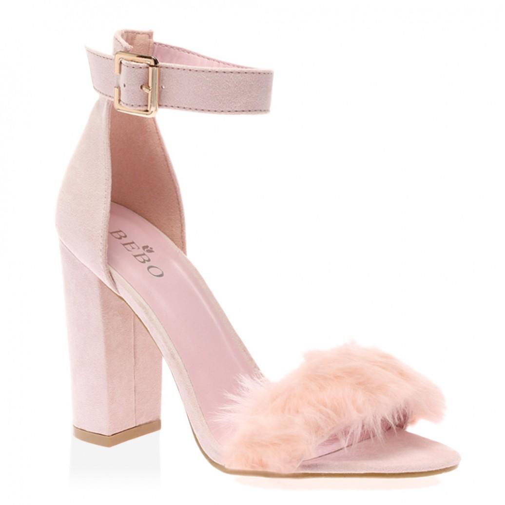 Pink Fluffy Heels Is Heel