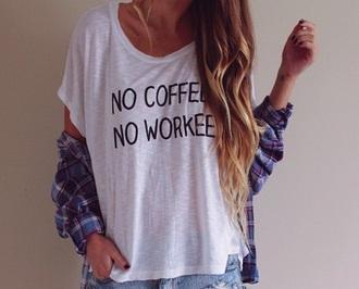 shirt coffee work t-shirt funny