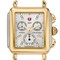 Michele 'deco' diamond dial two-tone watch case, 33mm x 35mm | nordstrom