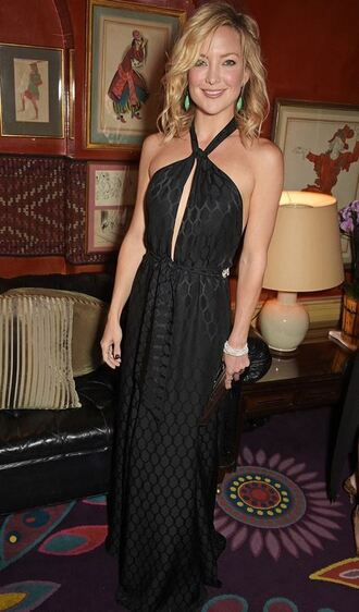 dress black dress kate hudson summer dress halter dress