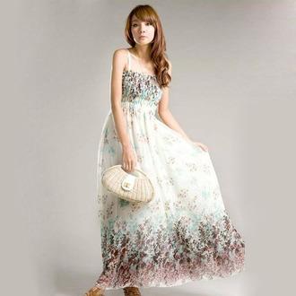 dress floral strap floral dress maxi dress