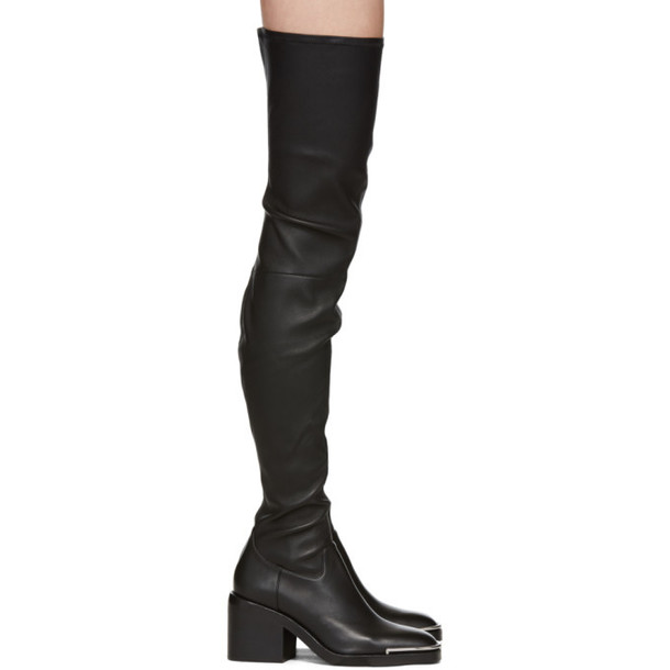 detailed pictures factory price cheap for discount Alexander Wang Black Hailey Over-the-Knee Boots - Wheretoget