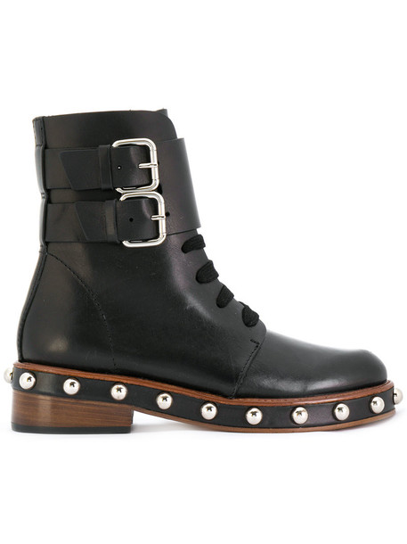 RED VALENTINO studded women leather black shoes