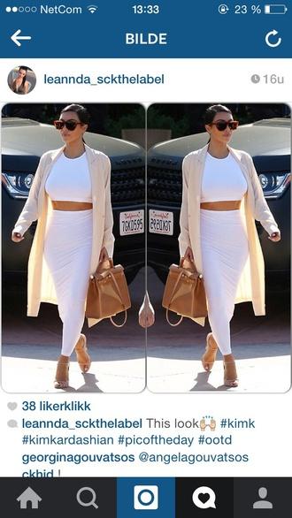 kim kardashian nude coat camel