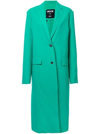 coat women spandex green