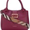 Burberry buckled closure tote, women's, pink/purple