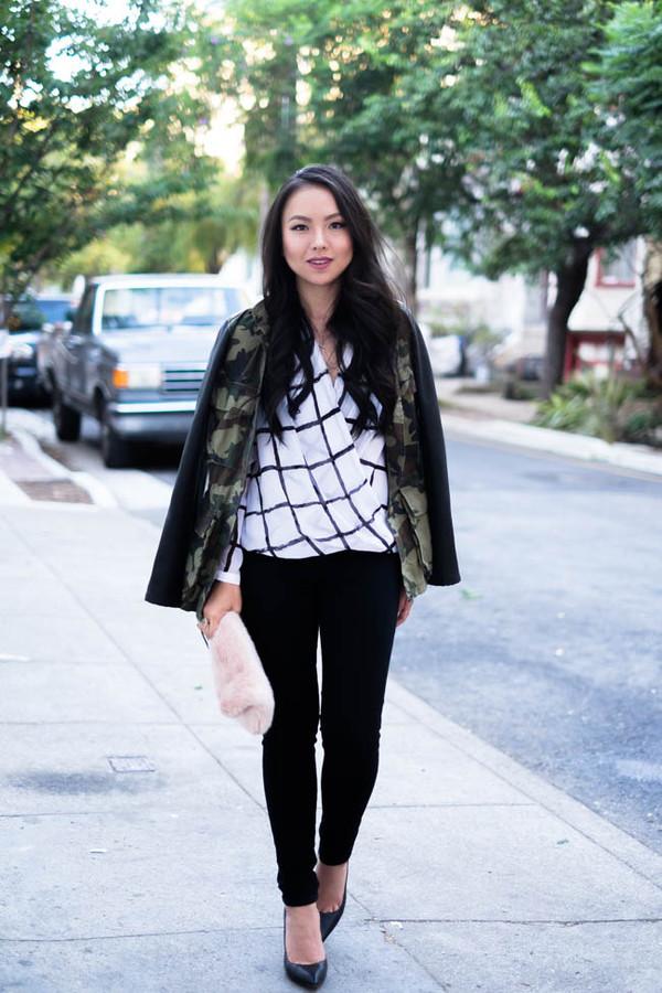 the fancy pants report blogger blouse jacket bag jewels
