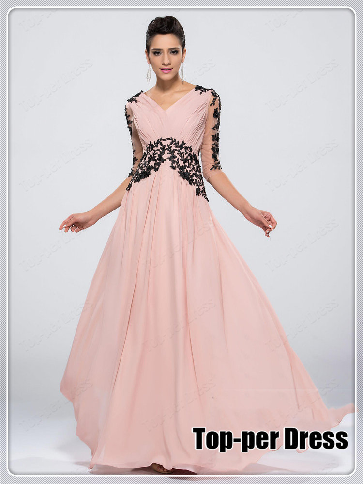 5463568644c Aliexpress.com   Buy Plus size long prom dresses with sleeves 2015 Long  Evening Dress Party Evening Elegant Vestidos De Festa ...