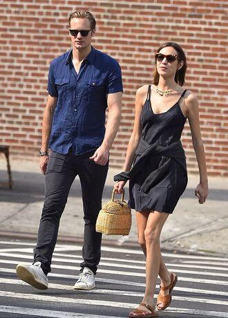 dress mini dress sandals alexa chung black dress summer dress streetstyle little black dress
