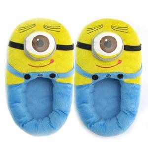 "Amazon.com : Triline Despicable Me 3D Eyes Minions Two-eyed Minion 11"" Jorge Plush Slipper : Plush Animal Toys : Toys & Games"