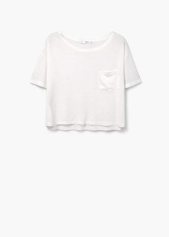 t-shirt white white t-shirt crop tops white crop tops mango