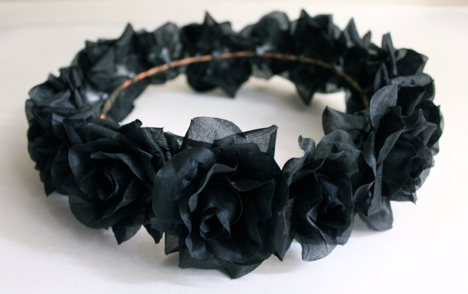 Black Flower Crown Gothic Flower Crown Black Flower Headband
