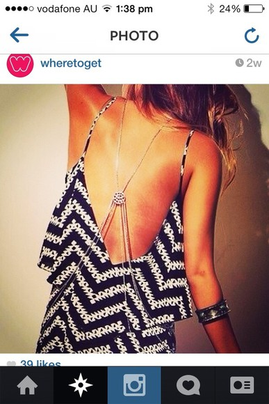 dress low back black and white maxi