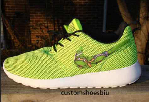bf8c5e1733b01 Custom Nike Roshe Run- Ninja Turtle Cartoon