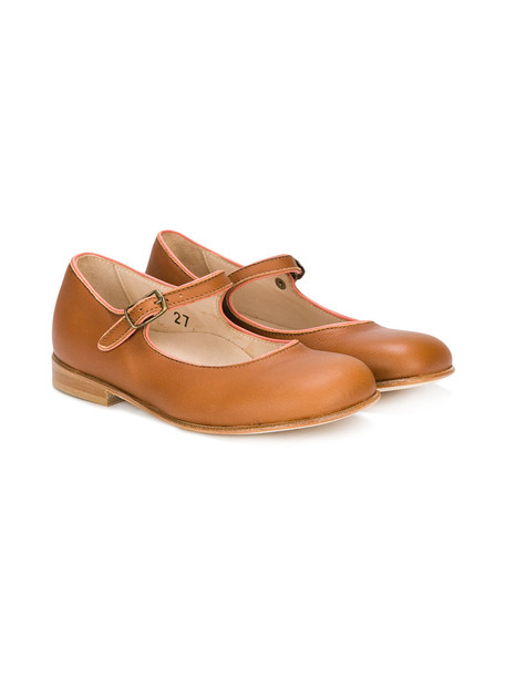 PePe strappy leather brown shoes