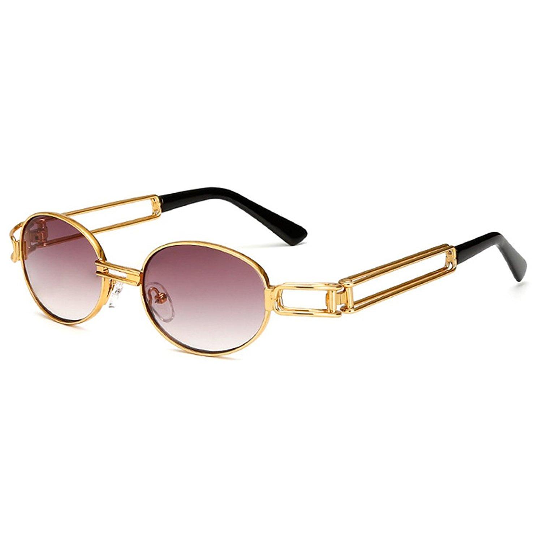 10db5b88ac hibote Womens Mens Vintage Steampunk Sunglasses UV400 C7 ...
