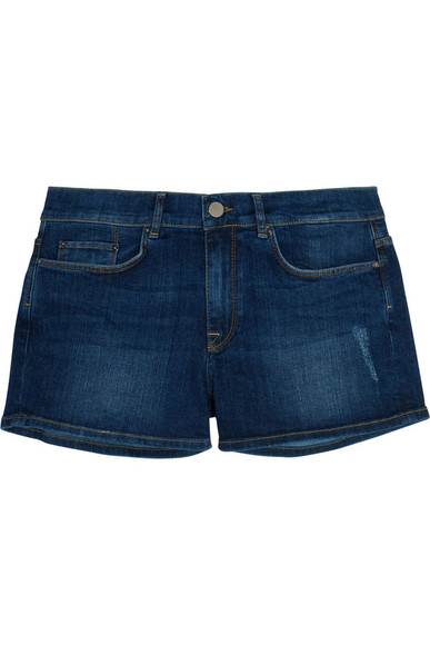 shorts blue denim victoria beckham denim oversized stretch-denim shorts victoria beckham