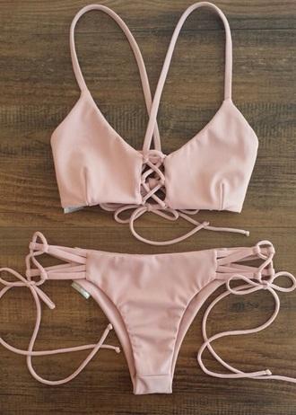 swimwear bikini pink sexy beach sexy bikini instagram pinterest fashion girl girly girly wishlist