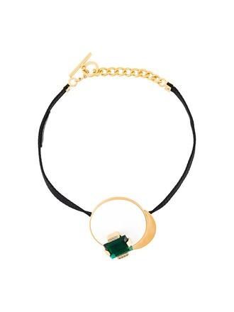 embellished necklace black jewels