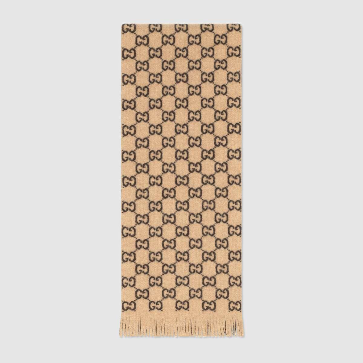 GG wool scarf