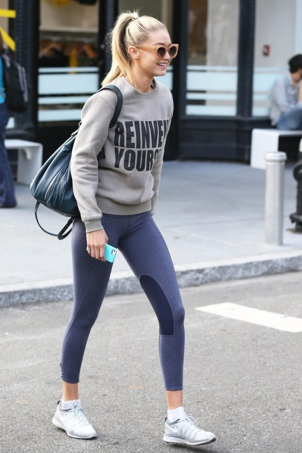 Sweater Gigi Hadid Sneakers Sportswear Sports Shoes Shoes Wheretoget