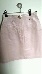 skirt,baby pink,pink skirt,leather skirt,vinyl skirt,light pink,cute skirt,cute outfits,vinyl,bardot fashion,ghetto fab,teddy bear coat