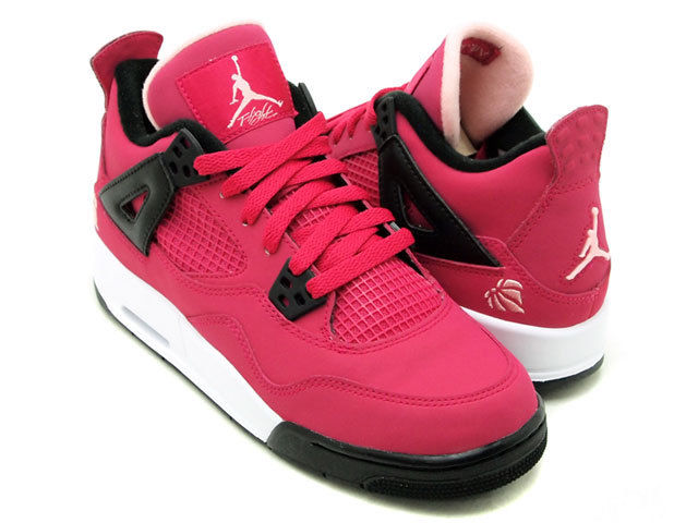 Nike Air Jordan 4 IV GS Voltage Cherry Pink Love Heart 487724 601 Girl Size Shoe