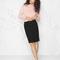 & other stories | raw edge denim skirt | black