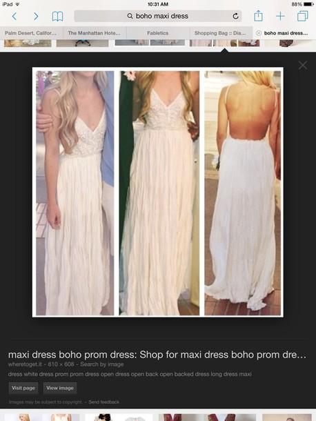 dress white boho maxi dress