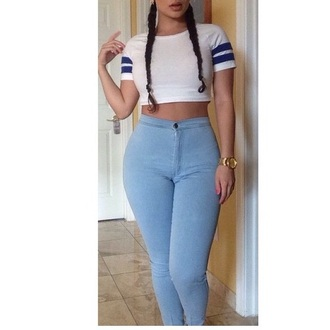 jeans cute blue jeans tumblr high waisted jeans