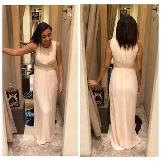 dress cream dress prom dress prom gown long prom dress girly elegant dress