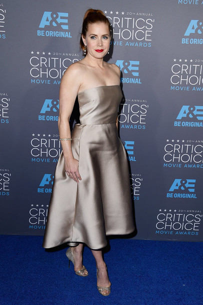 critics' choice movie awards amy adams pumps max mara dress shoes