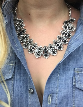 jewels statement necklace black necklace silver necklace necklace black silver medieval