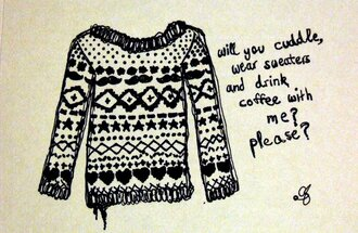 sweater pattern moustache