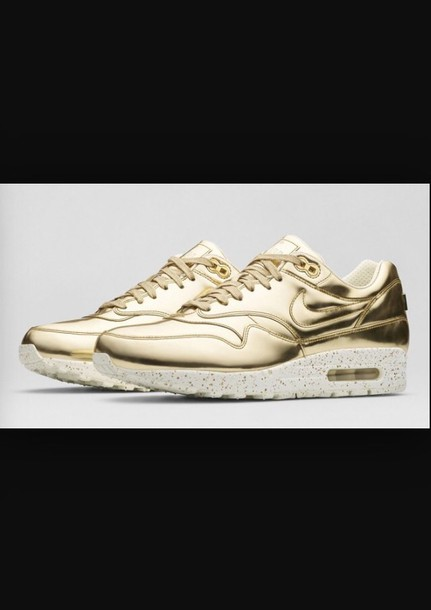 shoes gold sneacker nike air nike shoes air max air max sportswear