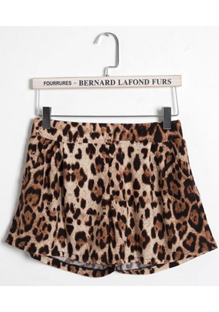 Women's sexy middle waist leopard printing straight casual shorts online