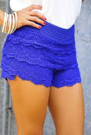 Royal blue lace shorts from p.s. i love you more boutique on storenvy