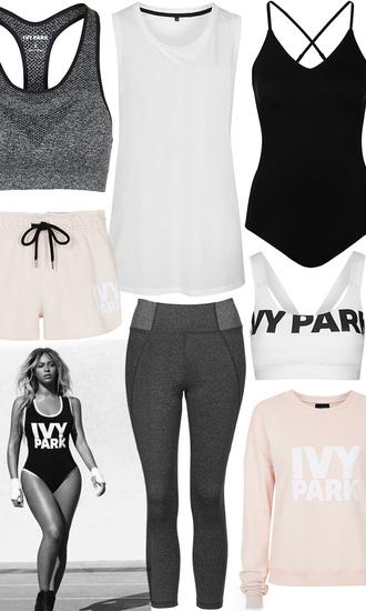 lemon stripes blogger white top sports bra pink sweater leggings shorts one piece swimsuit black swimwear sportswear beyonce beyonce fashion