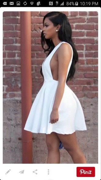 dress white dress low sided short dress white short dress side boob mini dress sexy dress flirty summer dress clubwear trendy h&m white high heels medium heels sandals midi skirt peplum dress