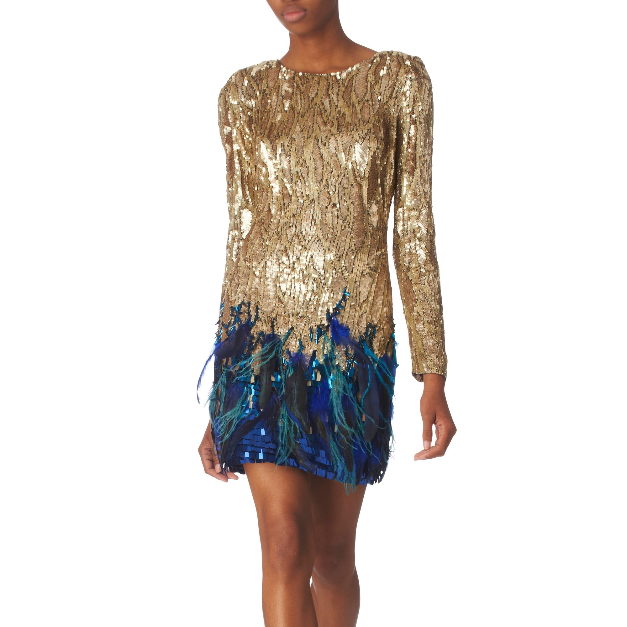 Matthew williamson gold liquid sequin dress