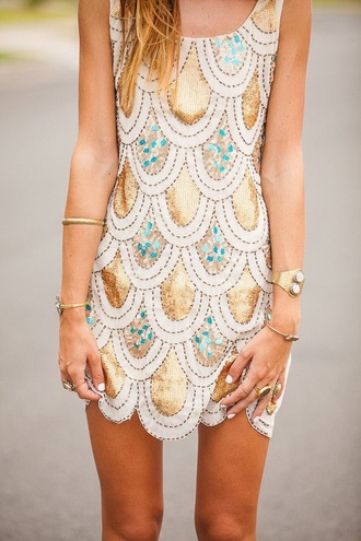 dress peacock gold summer pattern