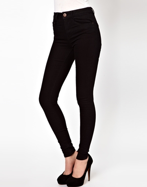ASOS | ASOS Ridley Supersoft Ultra Skinny Jeans in Clean Black at ASOS
