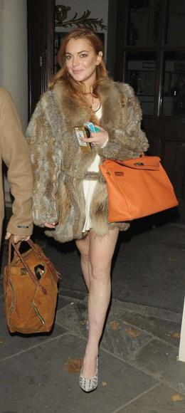 shoes lindsay lohan fur