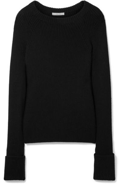 The Row sweater wool sweater black wool