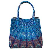 bag,handbag,shoulder bag,mandala bags,home accessory,blue mandala