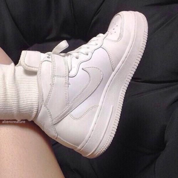 shoes white nikes